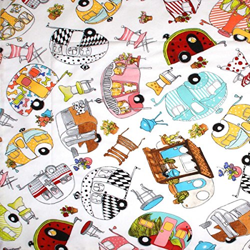 Dish Drying Mat – Pet Placemat – Appliance Mat – Glamper Campers on White R ...