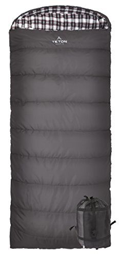 Teton Sports Fahrenheit XXL +20F Sleeping Bag; TETON Sleeping Bag Great for Cold Weather Camping ...