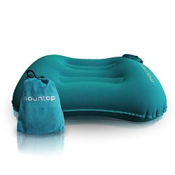 mountop Ultralight Inflating Travel/Camping Ergonomic Pillows(blue)