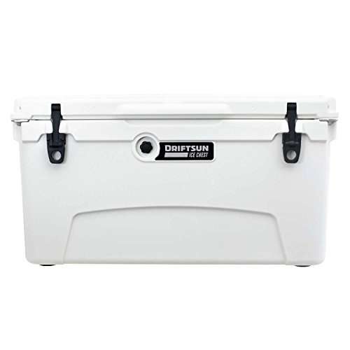 Driftsun 75 Quart Ice Chest/Heavy Duty Cooler/High Performance Commercial Grade Insulation (White)