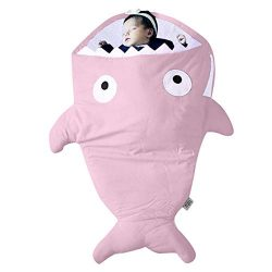 Hot Sale!UMFun Infant Baby Boys Girls Shark Sleeping Bag Swaddle Sleeping Swaddle Muslin Wrap Ba ...