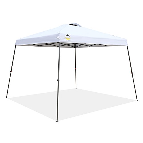 CROWN SHADES Patented 11ft. x 11ft. Slant Leg One Push up Clia Instant Folding Canopy Wheeled Ba ...