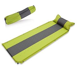 Newdora Sleeping Pad with Pillow – Self inflating Sleeping Pad is Ideal for Camping Hiking ...