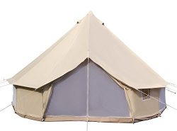 Dream House Diameter 5m Big 4 Season Canvas Cabin Waterproofing Camping Tents with Stove Jack