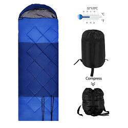 OUTCAMER Sleeping Bag Lightweight Waterproof for Adults Camping Backpacking Hiking, 3 Season War ...