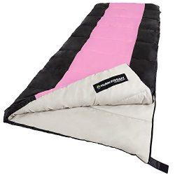 Sleeping Bag, 2-Season With Carrying Bag For Adults and Kids, Otter Tail Sleeping Bag By Wakeman ...