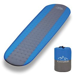 Sleeping Pad – Premium Self Inflating sleeping pad – lightweight and compact – Ideal Backpacking ...