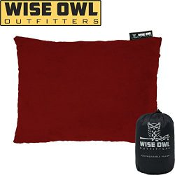 Wise Owl Outfitters Camping Pillow Compressible Foam Pillows – Use When Sleeping in Car, Plane T ...