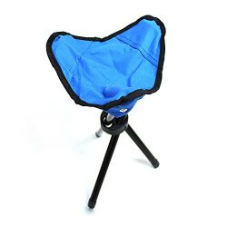 Tripod Stool,Tri-Leg 3-Legged Stool for Kids Camping Seat Travel Chair-Foldable,Portable,Canvas  ...