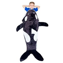 Cozy Whale Blanket For Children, Pocket Style Kids Tail Blanket Made of Extra-Soft & Durable ...