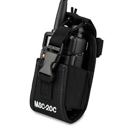 LUITON 3 in1 Multi-Function Radio Holder Holster Case Pouch Bag For GPS Kenwood Yaesu Icom Motor ...