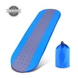 OUTCAMER Sleeping Pad with Attached Pillow, Self Inflating Sleeping Pad, Lightweight Inflatable  ...