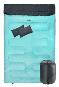 Teton Sports Cascade Double Sleeping Bag; Queen Size Sleeping Bag for Backpacking, Camping, Hiki ...