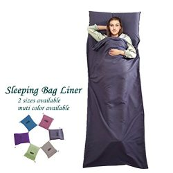 Cotton Sleeping Bag Liner Travel and Camping Sheet Lightweight Warm Roomy Compact Sleep Bag And  ...