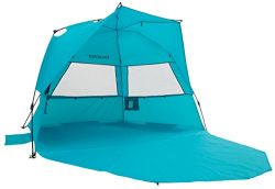 Alvantor Extra Large Beach Tent Super Bluecoast Beach Umbrella Outdoor Sun Shelter Cabana Automa ...