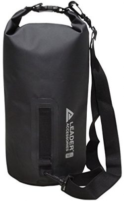 Leader Accessories New Heavy Duty Vinyl Waterproof 30L Black Dry Bag for Boating Kayaking Fishin ...