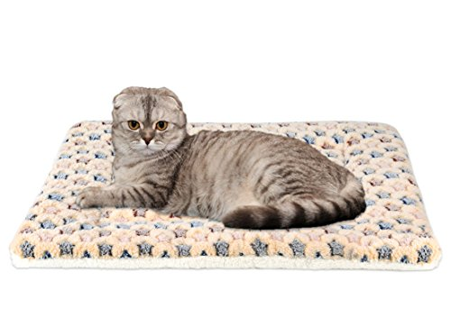 Mora Pets Ultra Soft Pet (Dog/Cat) Bed Mat with Cute Prints | Reversible Fleece Dog Crate Kennel ...