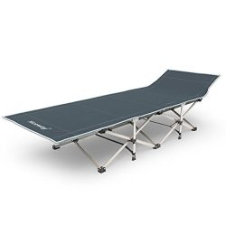 Niceway Oxford Portable Folding Bed Camping Cot with Storage Bag,6 Powered Steels 10 Support Poi ...