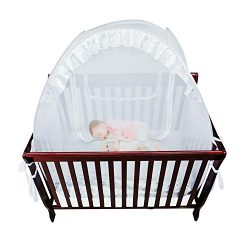 Houseables Baby Crib Safety Net, Mosquito Bed Netting Tent for Babies, White, 48″ X 26&#82 ...