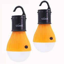 SlimK 2 Pack Tent Light Outdoor Camping Lantern LED Bulb, Batteries Powered