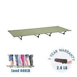 DESERT WALKER Camping Cots, Outdoor Bed Ultra lightweight Bed portable cot Free Storage Bag Incl ...
