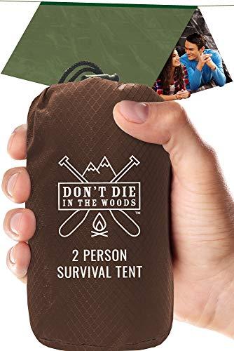 World's Toughest Ultralight Survival Tent  2 Person Mylar Emergency Shelter Tube Tent + Pa ...