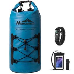 Nordmiex 20L 500D Heavy Duty Lightweight Waterproof Dry Bag for Kayaking,Boating,Rafting,Camping ...