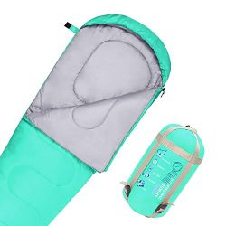 JBM Mummy Sleeping Bag 3 Season 60℉/15℃ Twin Single Water Resistant and Repellent Insulated Slee ...