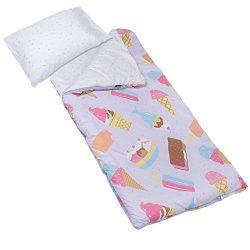 Wildkin Microfiber Sleeping Bag, Olive Kids by Children's Microfiber Sleeping Bag with Matching  ...