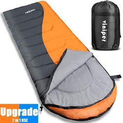 VINIPER Sleeping Bag, Comfort Waterproof and Lightweight Envelope Sleeping Bag With Compression  ...