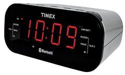 Timex T332S Bluetooth Dual Alarm Radio Alarm Clock, Black