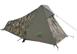 Geertop 1 Person 3-4 Season Lightweight Backpacking Bivy Tent with Aluminum Pole for Outdoor Cam ...