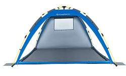 KingCamp Beach Sun Shelter UPF 50+ Family Camping Tent for 4-Person with Detachable Three Side W ...
