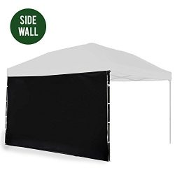 Punchau Canopy Side Wall – Black Sidewall for 10×10 Feet Pop Up Canopy Tent