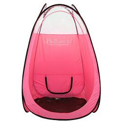 Belloccio Brand Pink Colored Professional Airbrush and Turbine Spray Tanning Tent Booth with Nyl ...