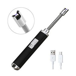 ORYCOOL Electric Arc Lighter Rechargeable Flameless Lighter Safety USB Windproof Candle Lighter  ...