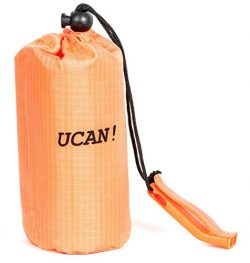 UCAN!! Emergency sleeping bag bivy. Survival bivy bag is made from mylar includes nylon stuff ba ...