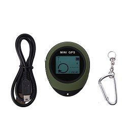 Mini GPS Tracker Locator, Waterproof GPS,Personal Pocket GPS Navigator for Outdoor Hiking Campin ...