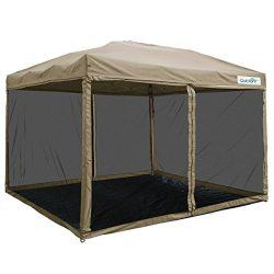 Quictent 8×8 Ez Pop up Screen Canopy with Netting Instant Pop up Screen House Gazebos Tent  ...
