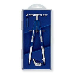 Staedtler Comfort 2 Pc Metal Quick Setting 6″ Compass Set, 552 01