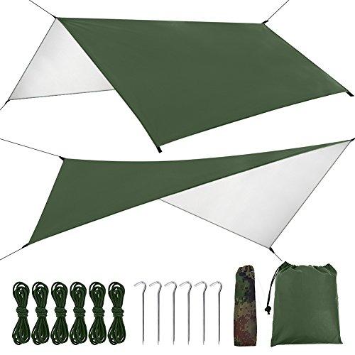 FILWO Canopy Camping Tarp Waterproof UV Protection Canopy Tent Tarp Shelter Beach Tent Umbrella, ...