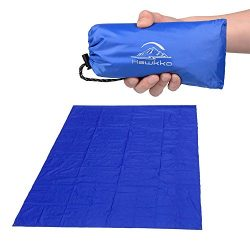 Hawkko Pocket Blanket, Compact Blanket, Oversize(87″x71″), Soft Lightweight Waterpro ...