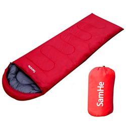 Sleeping Bag Envelope Lightweight Portable Waterproof Comfort With Compression Sack Perfect for  ...