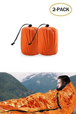TWFRIC Emergency Sleeping Bag – Waterproof Lightweight Thermal Bivy Sack – Survival  ...