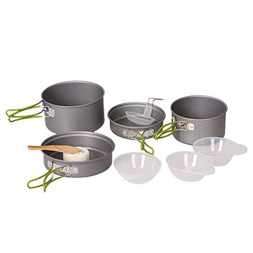 OUTAD 10pcs Outdoor Camping Cookware Portable Cooking Bowl Pot Pan Set for Picnic Outdoor Campin ...
