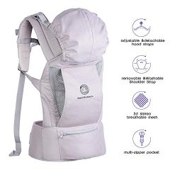 Baby Carrier – Ergonomic Baby Carrier with Hip Seat, Natural Form Baby Carrier Backpack fo ...