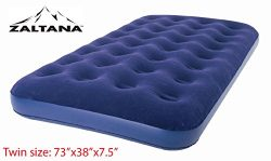 Zaltana Twin Size Air mattress (73″x38″x7.5″) Twin, Navy Blue AMT-N