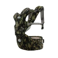 360° Ergonomic Baby & Child Carrier Front and Back with Hip Seat (Six-Position, Camouflage)