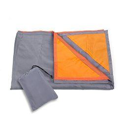 Kimfly Outdoor Beach Blanket, Compact Waterproof Picnic Blanket, Portable Sandproof Lightweight  ...