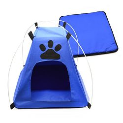 Pet Camping Gear/Pet Tent /Dog Tent /Cat Tent /Pop Up Pet Tent/Pet Shelter Tent for Indoor Outdo ...